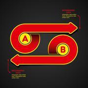 creative arrow info-graphics design concept - stock illustration