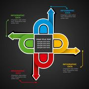 Creative arrow info-graphics design concept Stock Illustration