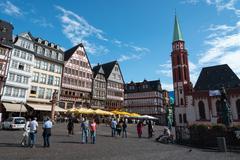 Famous Frankfurt Römerberg square - stock photo