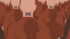 Dystopian March Of Clones 3 Stock Footage