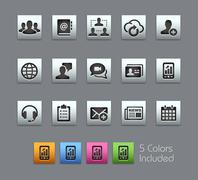 Business Technology Icons -- Satinbox Series - stock illustration