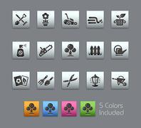 Gardening Icons -- Satinbox Series - stock illustration