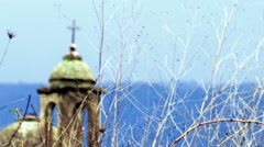 An old Christian church near Banias shot in Israel. Stock Footage