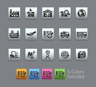 Industry and Logistics Icons -- Satinbox Series Piirros