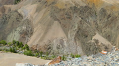 Landscape in the Altai Mountains (Mars valley) - stock footage