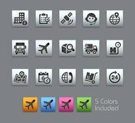 Shipping and Tracking Icons -- Satinbox Series - stock illustration