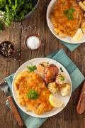 Homemade Breaded German Weiner Schnitzel - stock photo