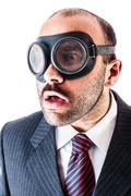 Mobster with goggles Stock Photos