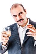 Addicted businessman - stock photo