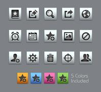 Communications Interface Icons -- Satinbox Series Stock Illustration