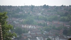 European suburbs: best shot from the hill top High Wycombe, England, Europe Stock Footage