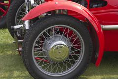 Vintage car wheel Stock Photos