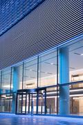 Entrance to modern building Stock Photos