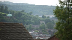 High Wycombe: English City, view from the hill top, Europe Stock Footage