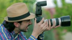 Photographer take a picture. Paparazzi. - stock footage