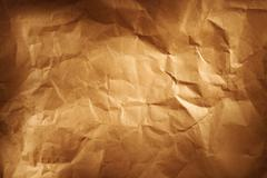 Closeup of brown wrinkled paper texture background Kuvituskuvat