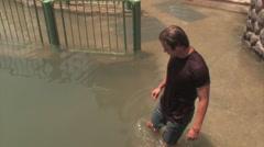 Young Man in Jordan River in ISRAEL Stock Footage