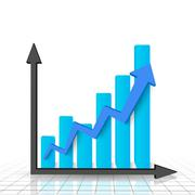 Business graph and chart Stock Illustration