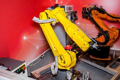 Industrial robot Stock Photos