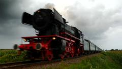 Steam train, Old steam locomotive Stock Footage