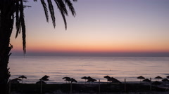 Time-lapse of the sunrise over the sea in Tunisia Stock Footage