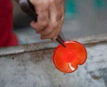 Handcrafted of glass blowing Stock Photos