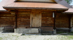 Orthodox wooden church, Ukraine Stock Footage