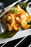 Stock Photo of Crispy Thai Shrimp Dish