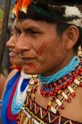 Shuar, indigenous group from Ecuador - stock photo