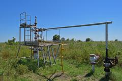 Oil well - stock photo