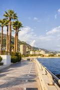 Champions Promenade in Monaco Stock Photos