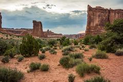 Desert Around Courthouse Rock - stock photo