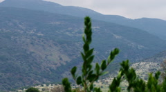 Stock Video Footage panorama of Nimrod Fortress on a hill shot in Israel. Stock Footage