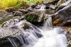 Khlong Lan waterfall in national park, Kamphaeng Phet Thailand. - stock photo