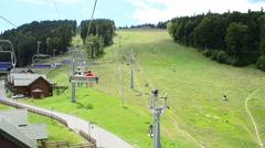 Shooting in the Carpathians, Ukraine, Bukovel. Ski resort. - stock footage
