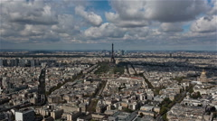 Paris from the Montparnasse Tower Stock Footage