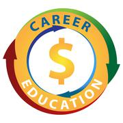 Education Career Earning Potential Icon Stock Illustration