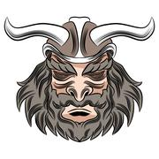 Stock Illustration of Viking Male Warrior Cartoon