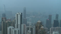 Hong Kong skyline, day to night time lapse Stock Footage