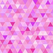 Seamless pattern pink triangle geometry mosaic tile - stock illustration