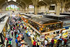 The Traditional Municipal Market (Mercado Municipal) in Sao Paulo, Brazil Stock Photos
