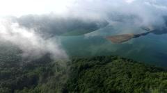 Flight over Edersee - Lake in Germany, Hessen - Waldeck Stock Footage