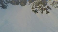 Breathtaking panorama of snowy mountain peak, popular ski resort, Austrian Alps Stock Footage