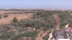 Chopper Landing Pad, Israel Aerial Stock Footage