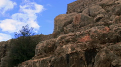 Video of Nimrod Fortress walls shot in Israel. Stock Footage