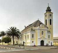 Stock Photo of German Evangelical Lutheran Church - Swakopmund, Namibia