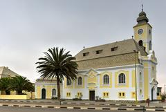 German Evangelical Lutheran Church - Swakopmund, Namibia - stock photo