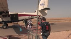 Airplane for Parachuting - stock footage