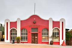 German Style Colonial Building - Luderitz, Namibia - stock photo