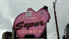 Elephant Car Wash, Seattle - stock footage